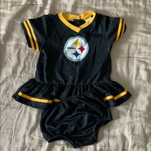Pittsburgh Steelers jersey dress and Diaper cover